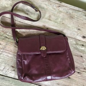 Etienne Aigner vintage burgundy leather crossbody